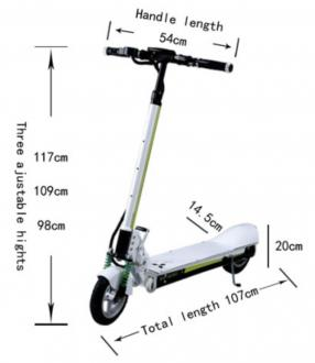 Electric Scooter GOGO K13 Lith. Bat. 35km/h 50km H10